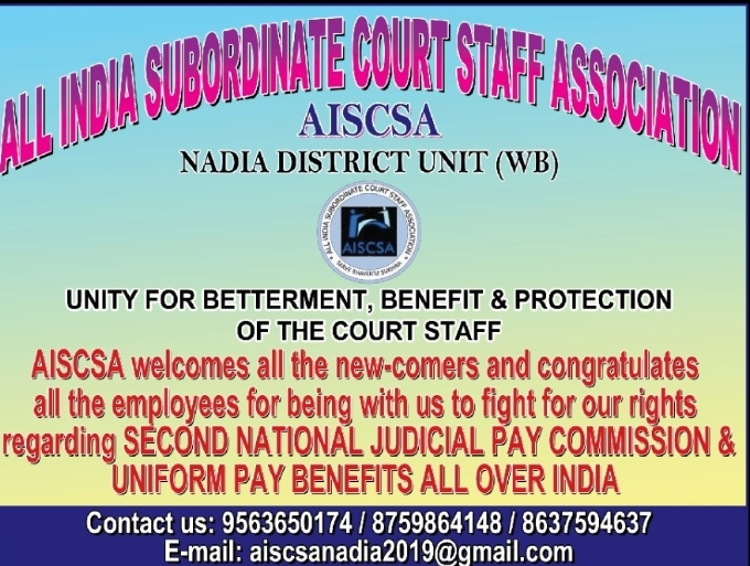 Another action on AISCSA letter !!*  *West Bengal government issued modified order for implementation of Benefit of Justice Shetty Commission